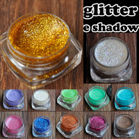 Pressed Pasty Glitter Eyes Shadow Cream Makeup Shimmer Glitter Cream Eyeshadow Lady Eyes Beauty Makeup Tool 15 Colors for Choose