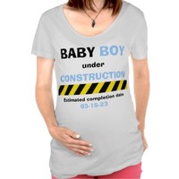 Funny Baby Boy Maternity Pregnancy Women T Shirt from Zazzle.com