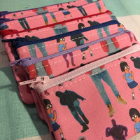 Hotline Bling Drake & Tina in pink coin pouch