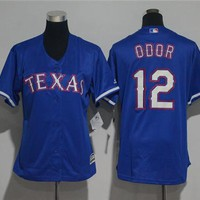 Women's Texas Rangers #12 Rougned Odor Cool Base Player Jersey