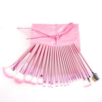 22PCs Makeup Brushes Eyebrow Tool Set Eyeshadow Brush Cosmetic (Size: 24cmx12cm, Color: Pink) = 1705711044