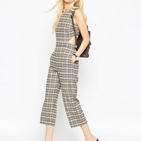 ASOS Check Jumpsuit with Open Back Detail