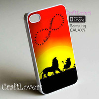 Hakuna Matata fit for iPhone iPhone 5 iPhone 5S iPhone 5C iPhone 4 iPhone 4S Galaxy S3 Galaxy S4 Cell Phone Phone Case Case Cover