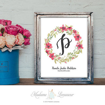 Premade Logo Monogram Baby Birthday Gift Wedding Monogram Wedding Logo Personalized gift website logo signature logo watermark initial art