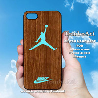 Nike Air Jordan - Print on Hard Cover For iPhone 4/4S and iPhone 5 Case