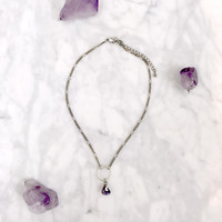 Moondrop Choker Necklace (Amethyst) ✨SOLD OUT✨