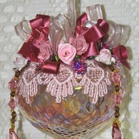 LIMITED EDITION Cora Hand Decorated Victorian Glass Ornament
