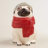 Ceramic Pug Cookie Jar