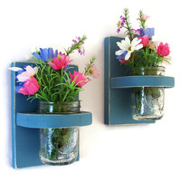 Wall Sconce with Mason jar Set of Two