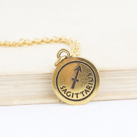 Sagittarius Necklace - Zodiac Jewelry - Personalized Zodiac Necklace - December Birthday -  Astrology Pendant - Gift For Daughter