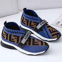 FENDI plus size women's shoes wool lining round toe casual shoes sneakers shoes 1