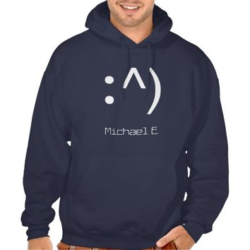 Geek Code Face Custom Name Hoodie