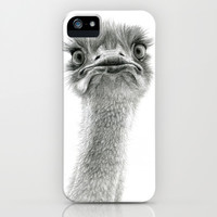 Cute Ostrich SK053 iPhone & iPod Case by S-Schukina