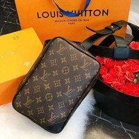 Louis Vuitton LV Fashion New Monogram Leather Bag Waist High Quality Crossbody Women Shoulder Bag Coffee